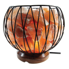 Himalayan Salt Lamp MINI CAGED FIRE BOWL